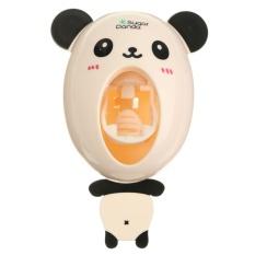Plastic Lovely Cartoon Animal Sucker Sticky Wall Automatic Toothpaste Dispenser Panda