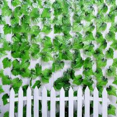 Plastik Buatan Ivy Leaf Garland Dedaunan Tanaman Merambat Bunga-Bunga Dekorasi Rumah HPX -
