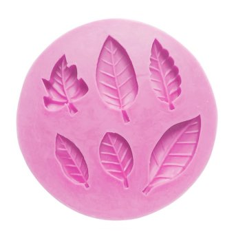 Pola Daun Kue Permen Gula Jelly Silikon Fondant Kerajinan Cetakan Diseduh Sendiri Dekorasi Kue Cetakan