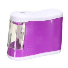 Portable Automatic Electric Desktop Pencil Sharpener Battery Operated For School Purple