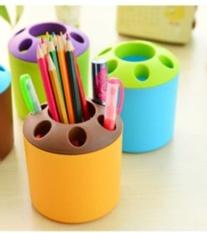 Practical Porous Desktop Pen Container Toothbrush Toothpaste Creative Holder - Intl