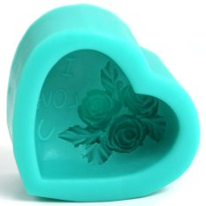 Practical Silicone Cake Chocolate Decorating Mold SugarCraft Mould - Love Rose (Intl)