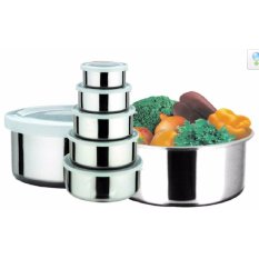 PROTECT FRESH BOX - RANTANG STAINLESS 5 SUSUN TUTUP PLASTIK