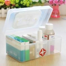 Rainbow Of Rectangular Transparent Three Grid Small Portable Kits (2312)