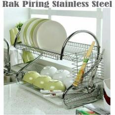 Rak Piring 2 Susun Stainless Steel