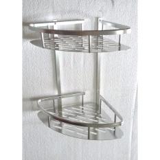 Universal Rak Sudut Dinding Toilet Aluminium Cek Harga Source · Rak sudut Aluminium 2 susun Penyimpanan