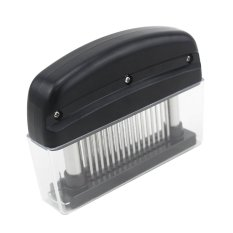 Rectangle Shape Practical Meat Tenderizer with 48 Sharp Stainless Steel Blades Kitchen Tool (Black) (Intl)