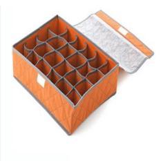 Retail Station - Underwear Storage 24 Grid Box / Penyimpanan Celana Dalam / Kaos Kaki - Orange ��