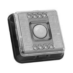 RIS Eight LED Auto PIR Sensor Motion Detector LED Light Lamp L0803 Black