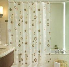 Room Decor Premium Tirai Shower - Shower Curtain - SL9001 - Putih