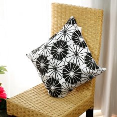S & F A 2pcs Floral Flower Throw Pillow Case Cushion Cover Pillow Slip Black and White