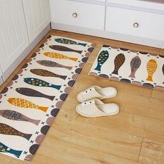 Sanwood® beraneka warna karpet kamar tidur dapur kamar mandi Keset antislip karpet 40 cm x