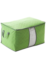 Sanwood Portable Clothes Blanket Large Storage Box Bamboo Charcoal Green