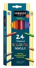 Sargent Art Triangle Coloured Pencils 24 Count - Intl
