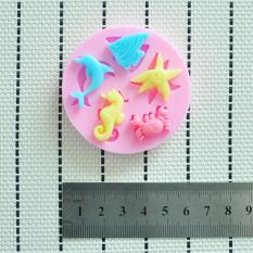 Sea Animal Silicone Mould Cake Decorating Fondant With Seahorse Shells