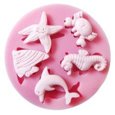 Sea Creature Fondant Cake Chocolate Sugarcraft Paste Mold Modelling Tool Mould (Intl)