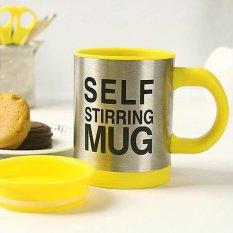 Self Stirring Mug Automatic Mixing Coffee Cup Yellow