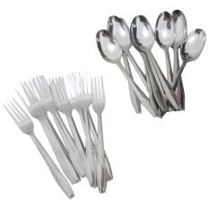 sendok garpu makan 18gram stainless steel - 24pcs