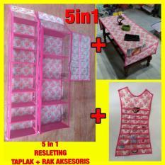 Set 5In1 Rak Tas Rak Sepatu Rak Jilbab Taplak Rak Aksesoris Resleting Z0144A
