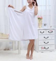 Shower Bath Terry Bow Women Body Spa Bath Towel Wrap New White (Intl)