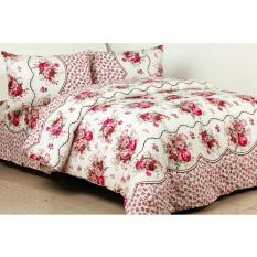 Sierra Bedcover dan Sprei Rosebell - Pink
