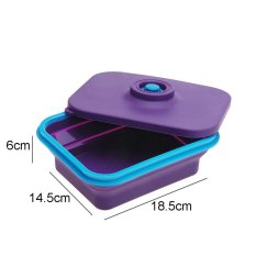 Silicone Collapsible Lunch Box With Cover Retractable Picnic Lunch Box Microwave Box Silicon Bowl