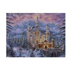 Snow Area Castle 5D Diamond DIY Painting Craft Kit Home Wall Decor - intl