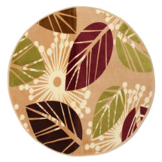 Soft Shaggy Bath Bathroom Bedroom Square Floor Shower Mat Round Little Colorful Leaves