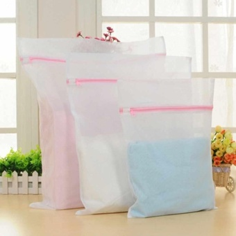 Soft Zipped Wash Bag Laundry Washing Mesh Net Underwear Bra ClothesSock Durable - intl
