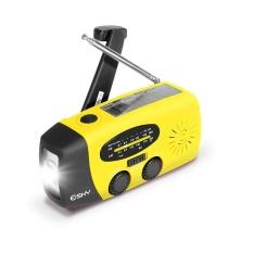 Solar+ Hand Crank Self Powered Emergency Radio +LED Flashlight + Phone Charger - intl