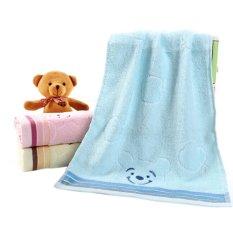 Sporter Hand Face Towel & Bath Towel 33*74cm Bear Cotton (Blue) (Intl)