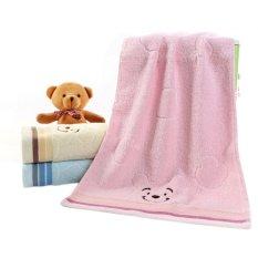 Sporter Hand Face Towel & Bath Towel 33*74cm Bear Cotton (Pink) (Intl)
