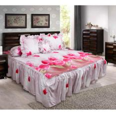 Sprei California Rumbai Bantal Busa - Red Tulip - King 180x200
