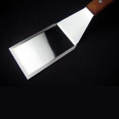 Stainless Steel Spatula Scraper Pancake Turner Scoop with Wooden Handle (Intl)