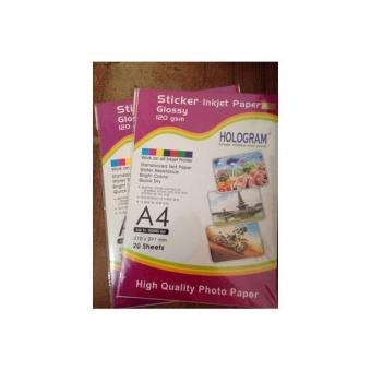 Sticker Inkjet Paper Glossy 120 Gsm- Kertas Label Glossy A4