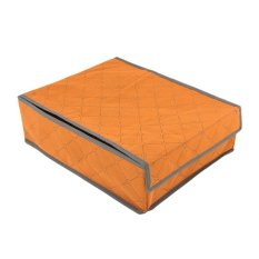 Storage Box Case Underwear 9 Cell Bras Panty Drawer Tie Storage Box Case L Orange (Intl)