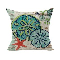 Summer Cool Lotus Leaf Pond Starfish Home Bed Living Room Cushion Cover Living Room Decor Linen Pillow Case