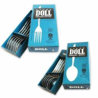 Super Doll Sendok Dan Garpu Makan Stainless Steel - 12pcs