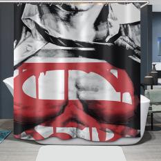 Superman Printing Bathroom Shower Curtain Waterproof H1532c1