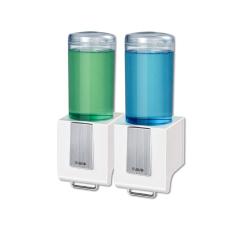SVAVO Double Head Manual Liquid Hand Soap Dispenser VX686-2 (White) 500ml*2 - Intl