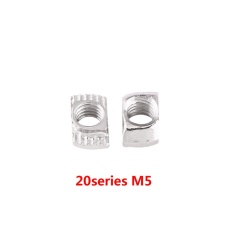 T-slot Hammer Head Nut Zinc Plated Carbon Steel Fastener For Aluminum Profile (EU20-M5*10*6) - intl