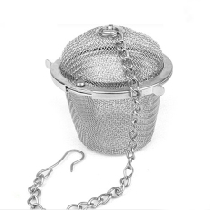 Tea Stainless Strainer Locking Tea Spice Mesh Stainless Herbal Ball Diam 5cm