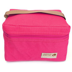 Thermal Insulated Lunch Box Tote Bento Pouch Container Lunch Bags Rose Red - Intl