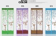 Tirai Magnet Monkey Garden - Coklat Muda