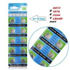 TMI Battery Alkaline Baterai Kancing Lithium AG13 LR44 (1.55V) Untuk Kalkulator, Jam, Kamera, PDA - Isi 10 Pcs