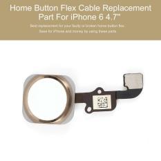 Tombol Home Touch ID Sensor Kabel Fleksibel Bagian Pengganti Untuk Iphone 6 11.94 cm (perak