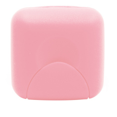Travel Plastic Soap Box Dish Holder Container Storage Box with Lock Small Size Pink (Intl)