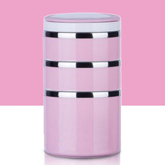 Triple Layers.Baking Filling Storage Box.Lunch Box.Dinner Pail.Thermal Insulation Bento Box.Snack Picnic Box.Fresh Keeping Storage Box.Vegeable & Fruit Box.Home Living & Outdoor Lunch Box. (Pink) - Intl