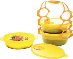 Tupperware Carry All Bowl 3 Pcs - Kuning
