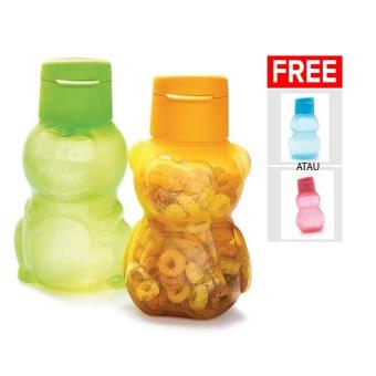 Tupperware Eco Bottle Kids 2 Btl - Free 1 Botol - Multi Colour